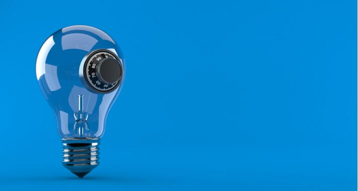 Light bulb with combination lock