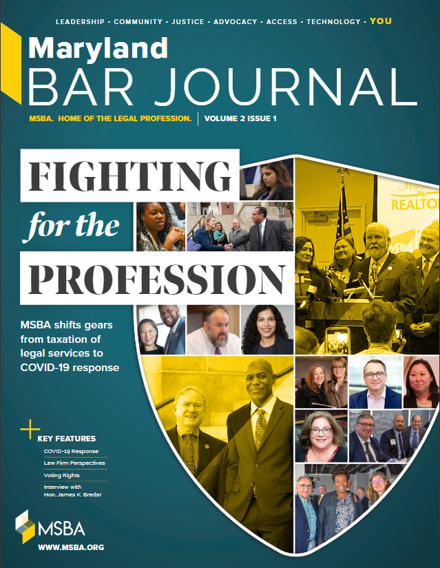 Maryland Bar Journal Cover