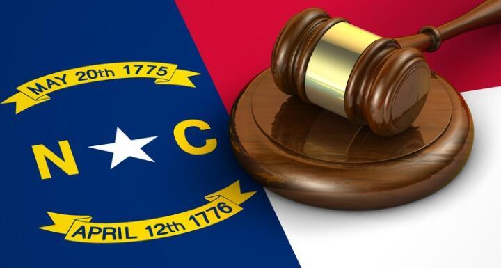 North Carolina Flag and Gavel
