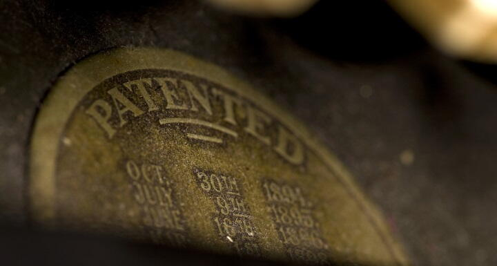 Old patent stamp