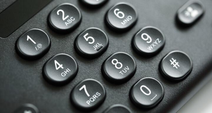 Close up of telephone keypad