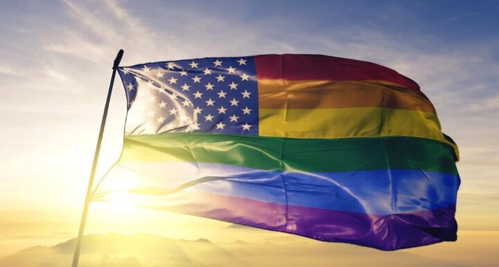 American Flag as the Pride Flag