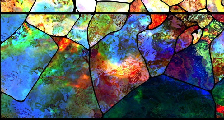 Modern stained glass art window