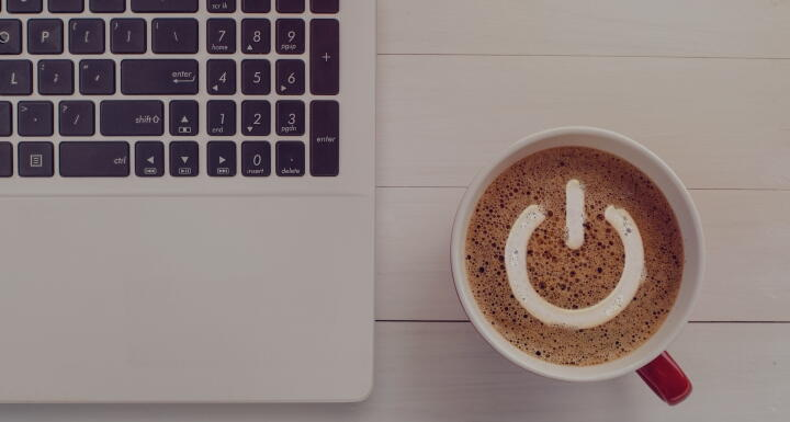 top View Power Shape Latte Coffee