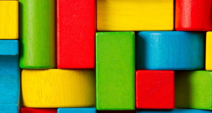 colorful toy wooden blocks