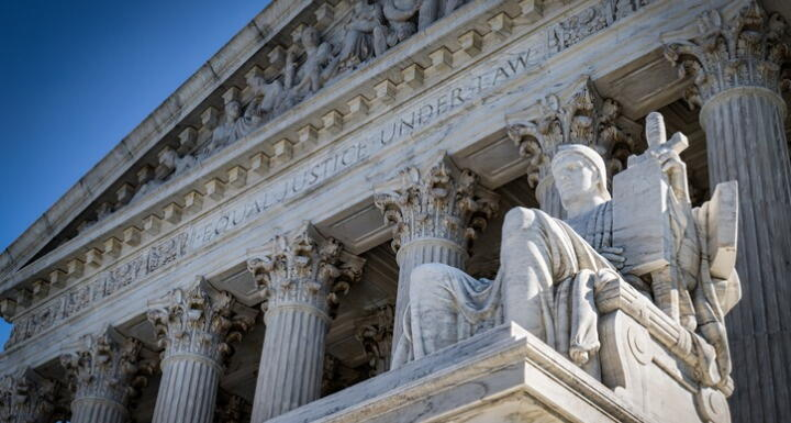 Close up shot of the U.S. Supreme Court House
