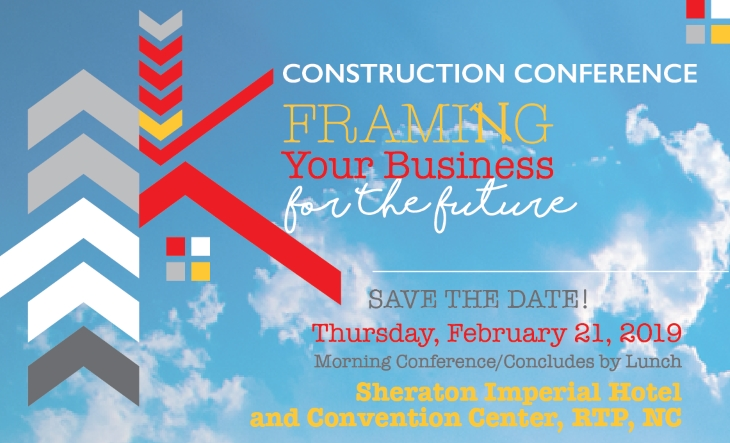 Save the Date for 2018 Construction Conference