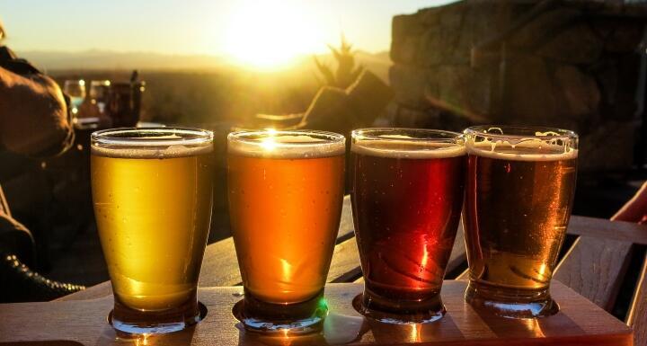 Beer Flight in Sun