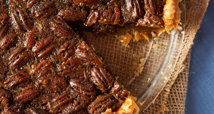 A pecan pie with a slice missing, as a metaphor for non probate assets