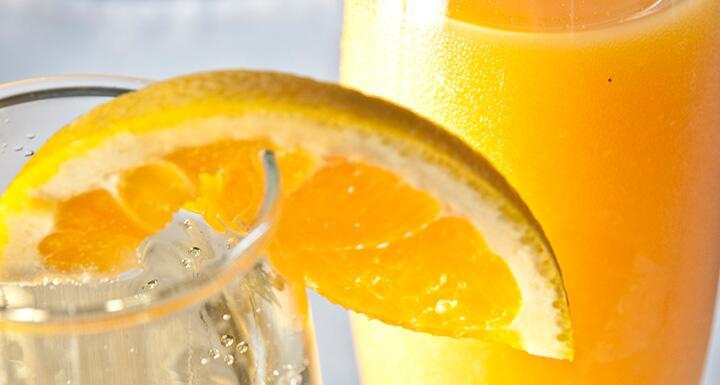 Mimosa with orange slice