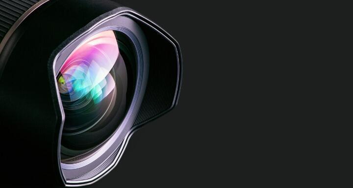 close up on camera lens