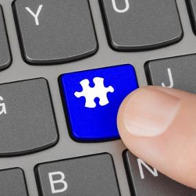 keyboard puzzle piece