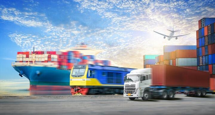 logistics import export background and container cargo transport c