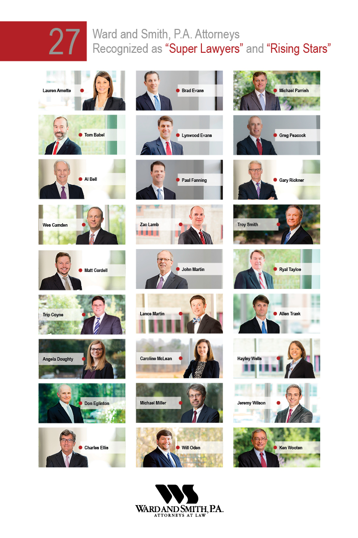 Graphic with headshots of honored attorneys
