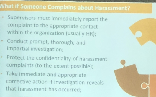 Dealing with Workplace Harassment