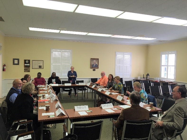 Chowan County nonprofit leaders gathered for the roundtable.