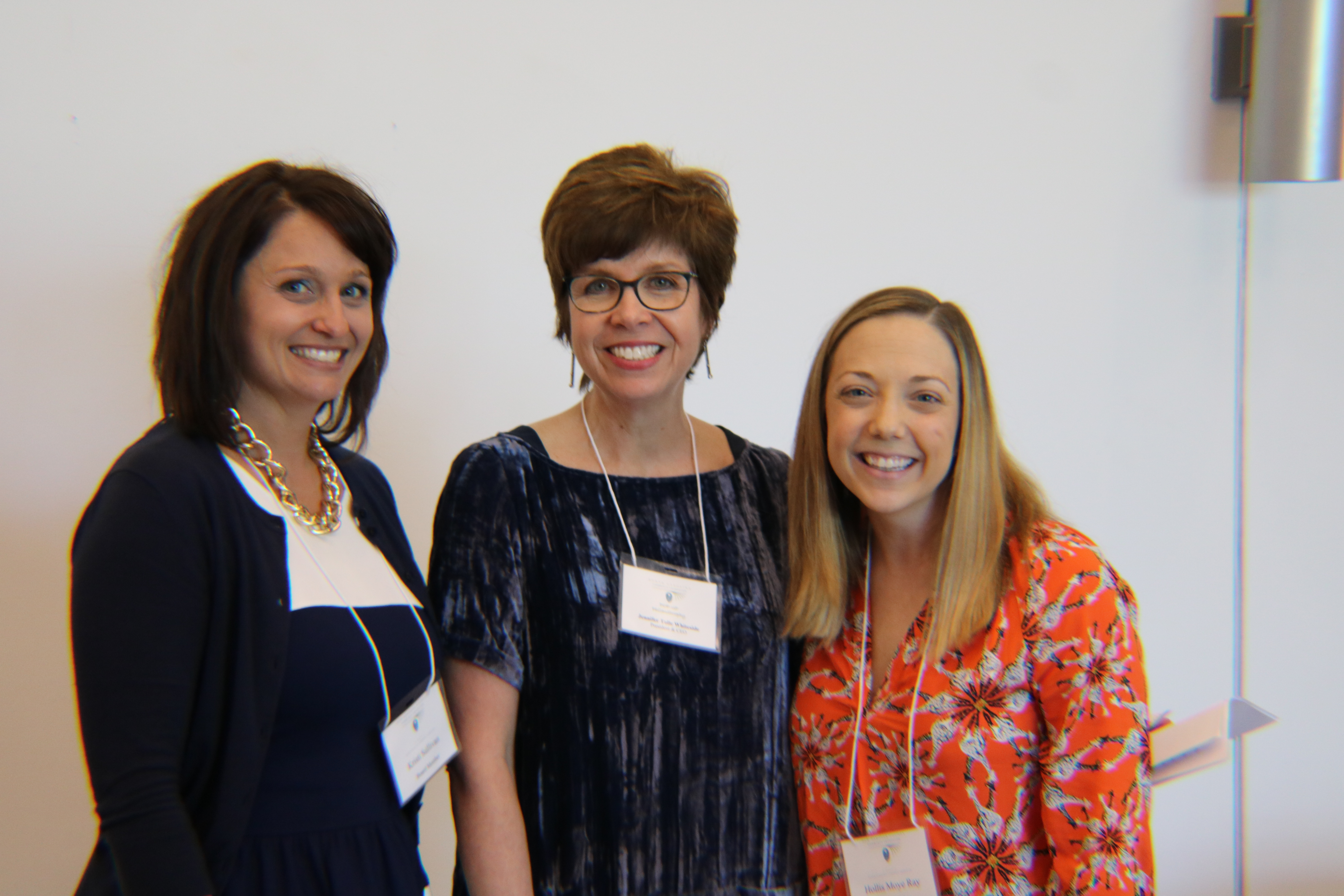 Hollis Moye Ray (right), NHCCF board member, poses for a photo at NCCF's Pop-Up Philanthropy with Kristi Sullivan (left), NHCCF board president, and Jennifer Tolle Whiteside, NCCF CEO and president.