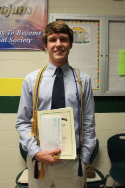 Evan Raynor, 2015 Williams scholarship recipient.