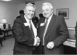 Charlie Gaddy (pictured right) with NCCF founder Lewis Holding.