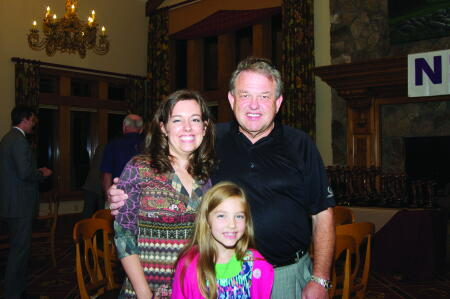 Stevens (right) pictured with his daughter Daphne Petrey (left) and grandaughter.