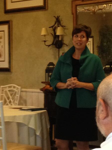 NCCF CEO Jennifer Tolle Whiteside addresses the room.