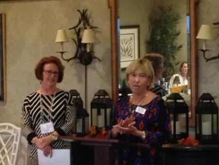 Grants cChair Terry Robertson awarding a grant to Beaufort historical Association, represented by Patricia Suggs.