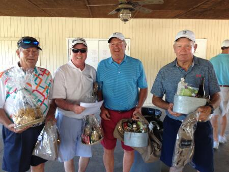 Tournament winners left to right: Mike Small, Roger Waniata, Doug Creech and Sammy Guthrie.