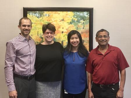 Pictured is the board of advisors of the Cary Community Foundation, (left to right) Michael Stellpflug, Laura Martin, Catherine Nguyen Pham and Bharat Vedak. Debbie Fox is not pictured.