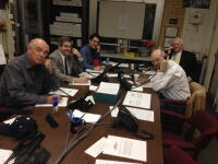 Left Side of the Table, L-R: Jim Davis, Dan Roberts and Maria Cho. Right Side of the Table, L-R:  Dr. Jim Congleton and Ken McCotter