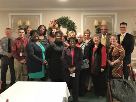 The boards of advisors of the Duplin Foundation for Youth Advancement and the Duplin County Community Foundation join representatives of local 2017 grantee nonprofit organizations for a group photo following the recent grant awards ceremony.
