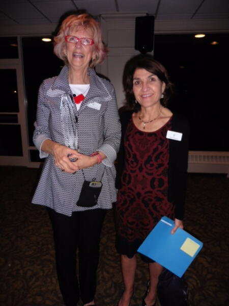NCCF's Mary Anne Howard poses for a photo with NCCF Director of Community leadership Sally Migliore.
