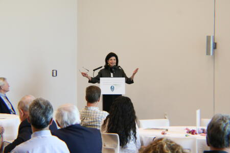 Anne Sorhagen, NCCF southeastern regional director, addressing attendees at Pop-Up Philanthropy.