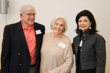 Jonathan Alper and Connie Parker, founding NHCCF board members; and Anne Sorhagen, NCCF southeastern regional director, posing for a photo at Pop-Up Philanthropy.