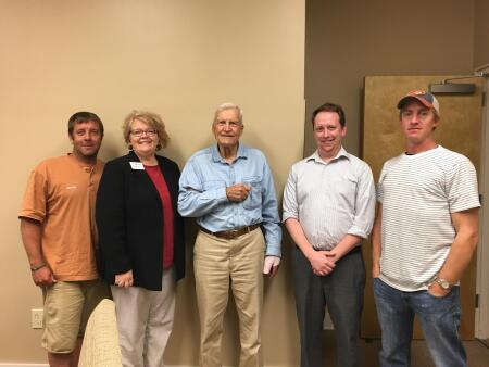 Pictured are Jamey Thompson, Avery County Community Foundation board member; Michelle Scott, ACCF board member; Judge Dewey Wells, Colby Martin, NCCF Regional Director; and John Thompson, ACCF board chair.