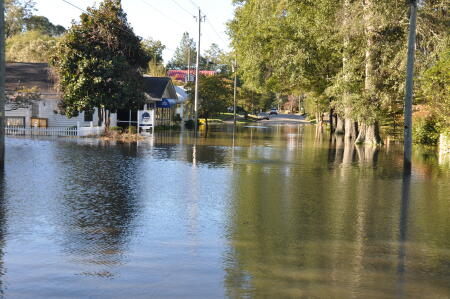 This was a common sight throughout eastern North Carolina following the devastating floods.