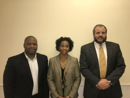 Pictured (left to right) are the newest members of the Northern Albemarle Community Foundation board of advisors: Rodney Walton, Angela Cole and Brian Beasley.