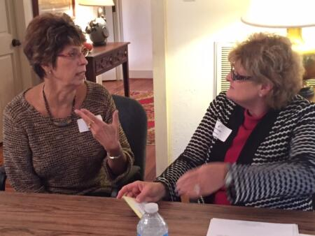 Warren County Community Foundation Board Secretary Linda Browne and Edgecombe  Charitable Fund Board Member Carol Cobb.