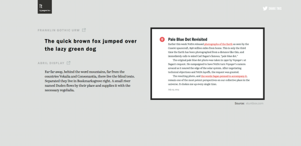 11 Resources for Font Pairing & Typography Inspiration - New