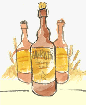 Haw River Ales Illustration