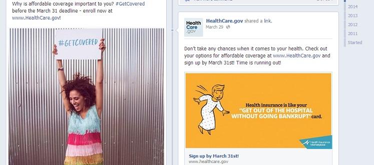 HealthCare.Gov Facebook Page