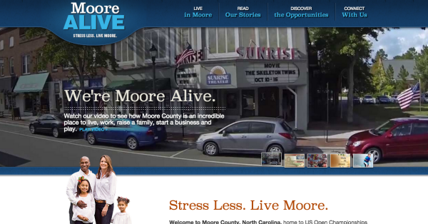 Moore Alive homepage