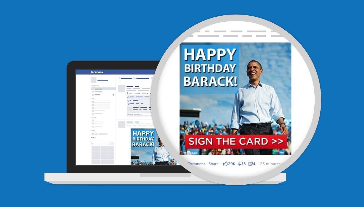 Obama Campaign Ecard Facebook Post