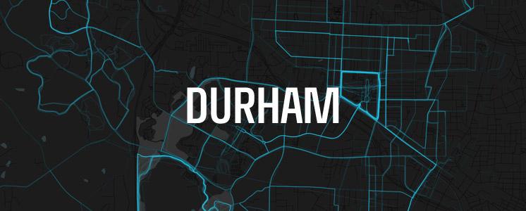 Durham running map