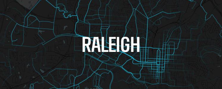 Raleigh running map