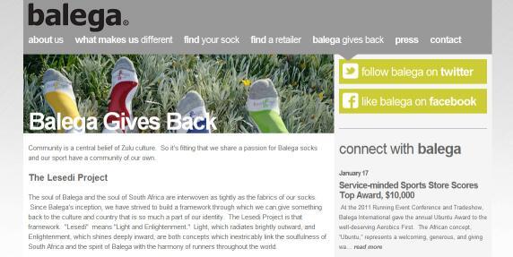 Balega's webpage describing The Lesedi Project.