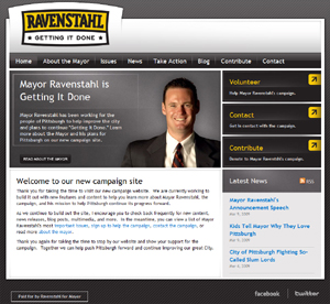 Mayor Ravenstahl Campaign Website