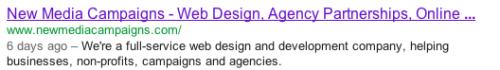 Meta Descriptions - Google