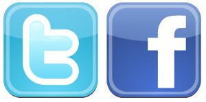 Twitter Facebook icons