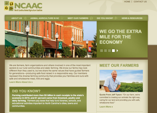 ncaac-website-screenshot