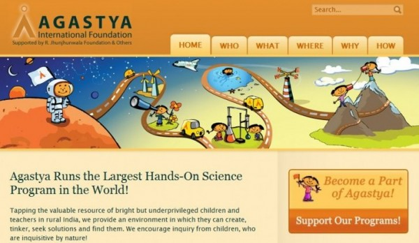 Screenshot of Agastya.org